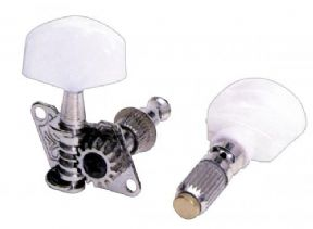 5 STRING BANJO TUNERS CHROME / PEARL